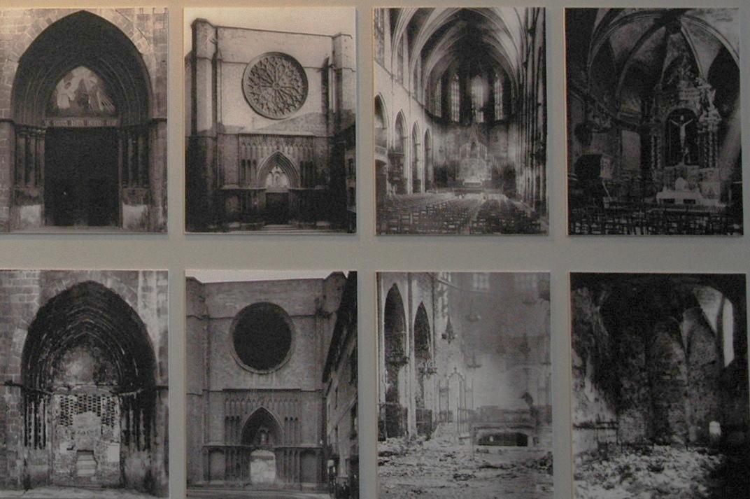 Destrucció de l'any 1936 de Santa Maria del Pi