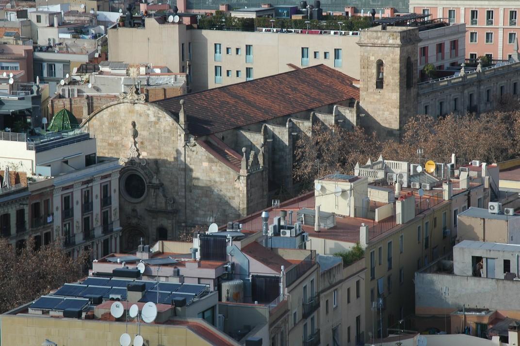 Església de Betlem des del campanar de Santa Maria del Pi