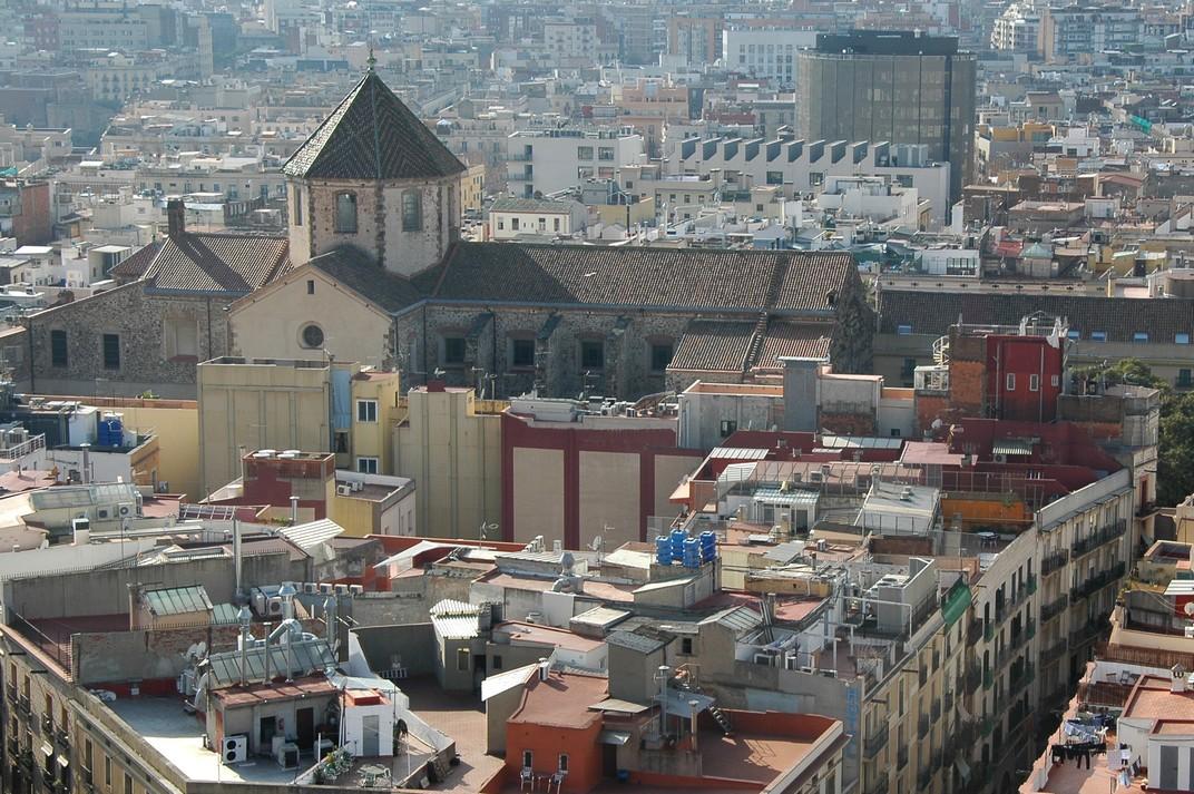 Església de Sant Agustí Nou des del campanar de Santa Maria del Pi