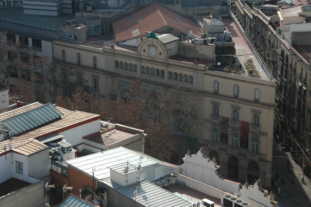 Gran Teatre del Liceu des del campanar de Santa Maria del Pi
