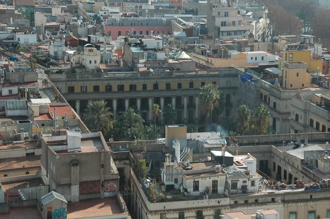 Plaça Reial des del campanar de Santa Maria del Pi