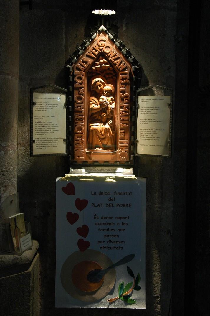 Plat del pobre de la Basílica de Santa Maria del Pi