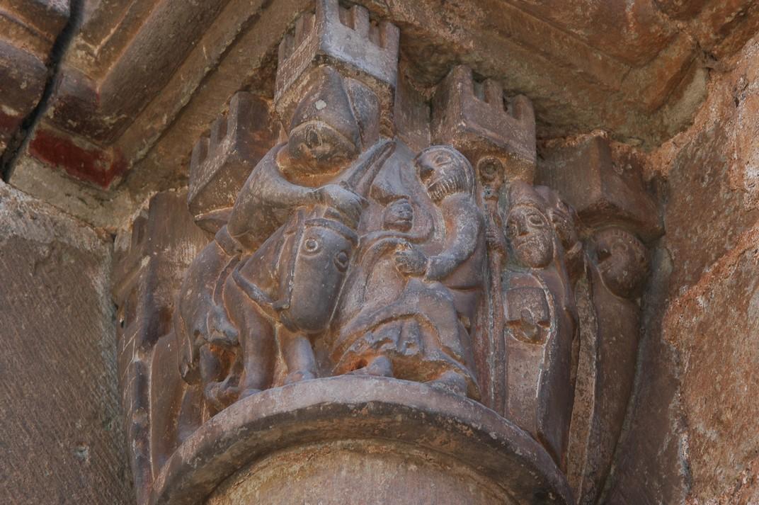 Capitells de l'església de Sant Martí de Mura de les Valls del Montcau
