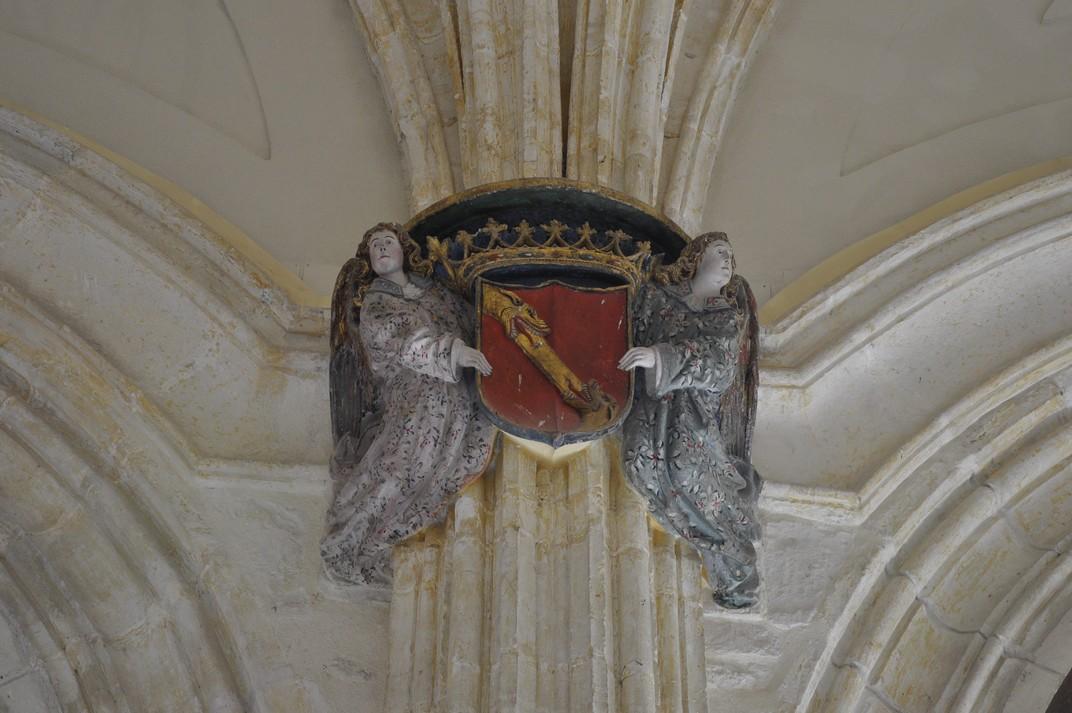Àngels amb l'escut dels Trastàmares del Monestir de Santa Maria d'El Paular de Madrid