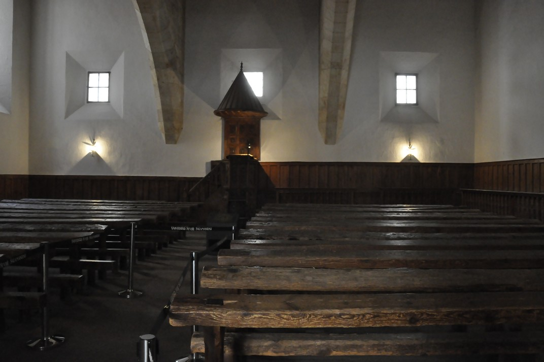 Aula de Fra Luís de León de la Universitat de Salamanca