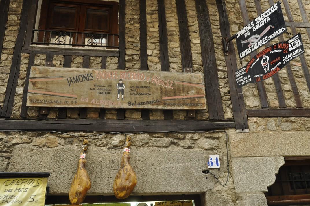 Botiga de pernils ibèrics de La Alberca de Salamanca