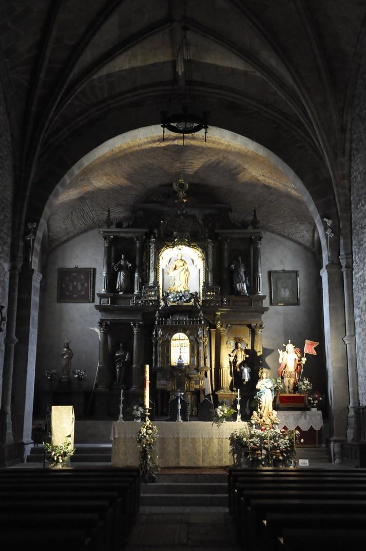 Capella central de l'església parroquial de La Alberca de Salamanca
