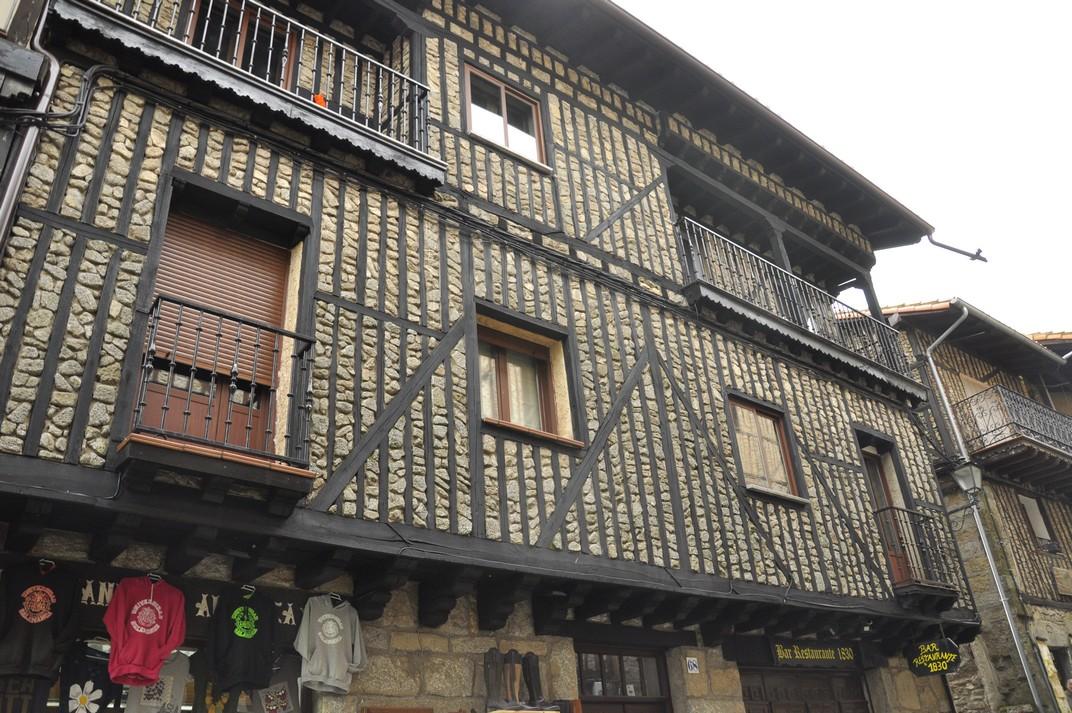 Cases d'entramats de fusta de La Alberca de Salamanca