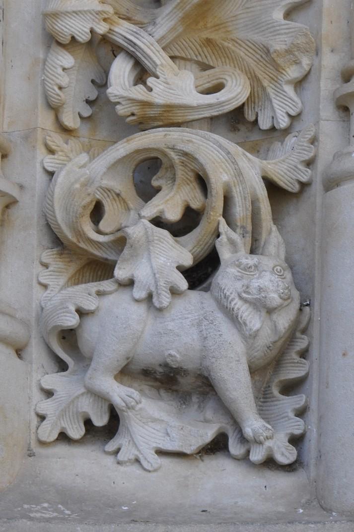 Elements actuals de la Porta de Ramos de la Catedral Nova de Salamanca