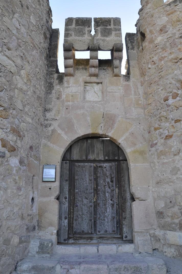 Entrada al Castell dels Bisbes de Turégano de Segòvia