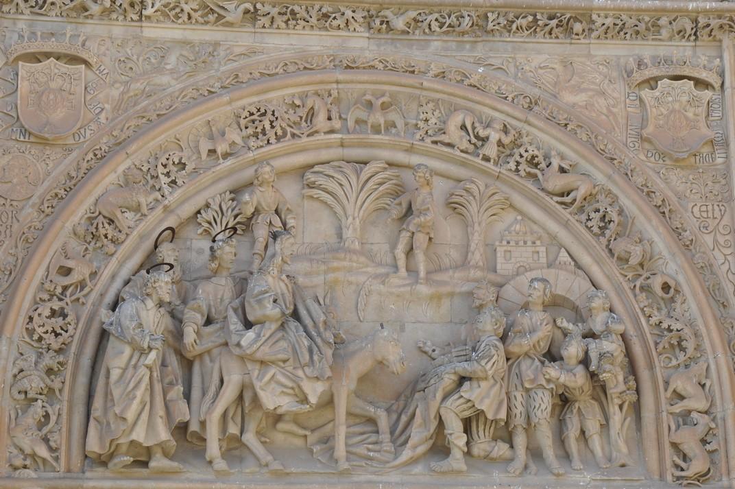 Entrada de Jesús a Jerusalem de la Porta de Ramos de la Catedral de Salamanca