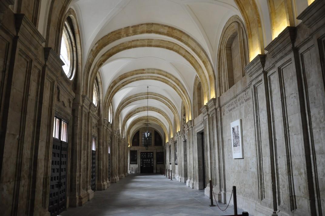 Entrada principal de la Universitat Pontifícia de Salamanca