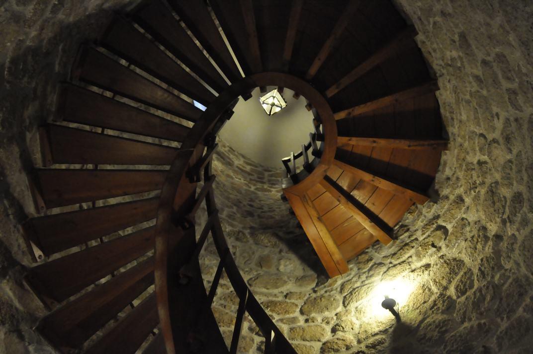 Escala de cargol del Castell de Manzanares El Real de Madrid