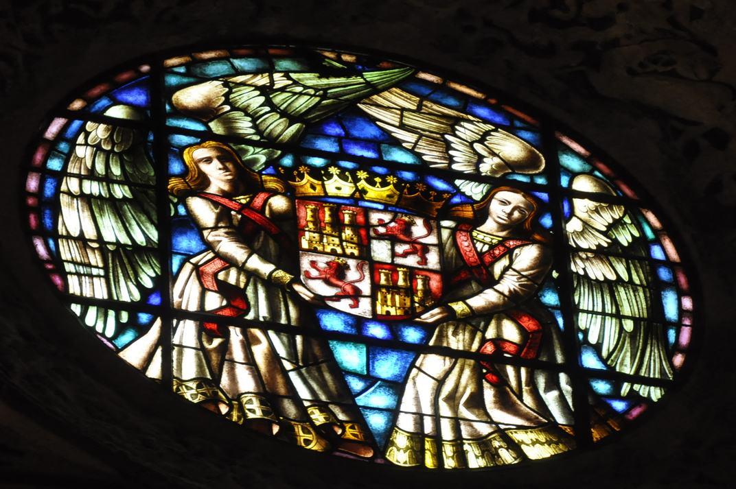 Escut de Castella i Lleó de la Sala del Tron de l'Alcàsser de Segòvia