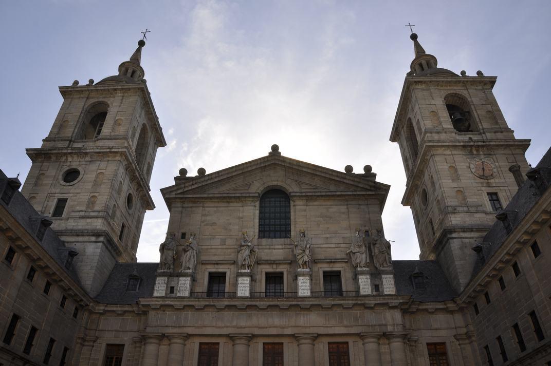 Façana principal del Pati de Reis del Monestir d'El Escorial de Madrid