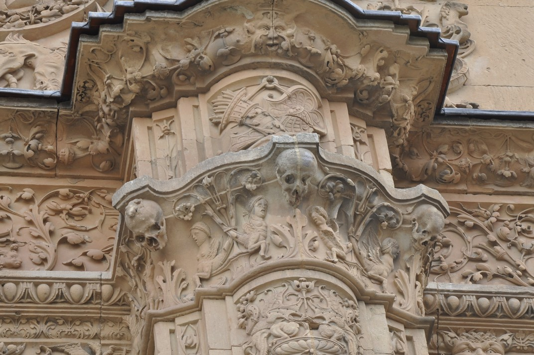 Gripau de la façana principal de la Universitat de Salamanca