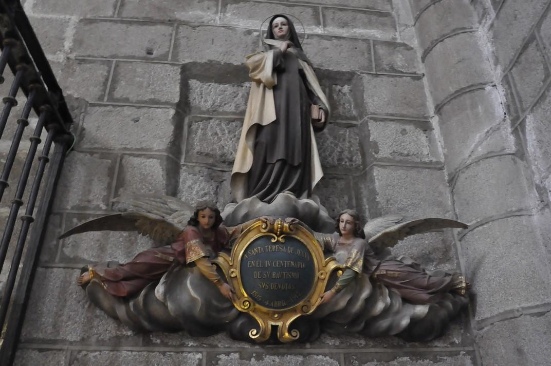 Imatge de Santa Teresa de Jesús de l'església de San Juan Bautista d'Àvila