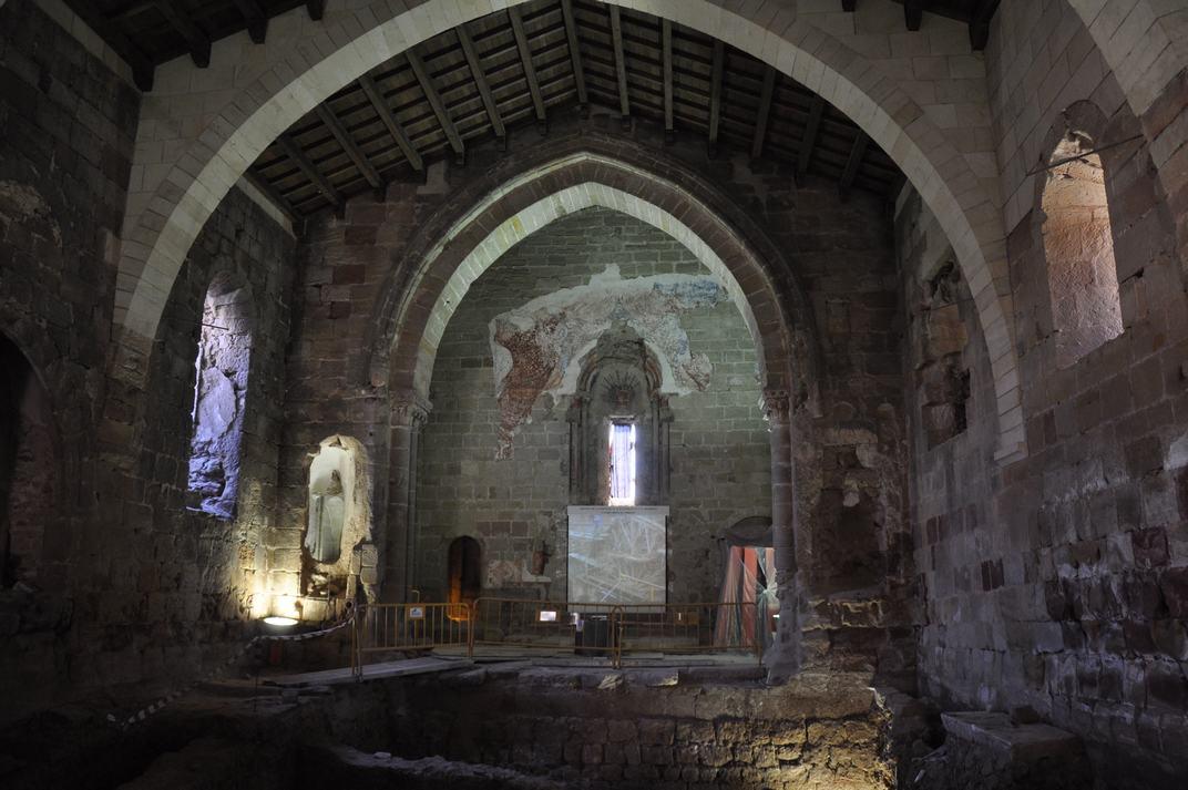 Interior església de Santiago de Sigüenza de Castella-La Manxa