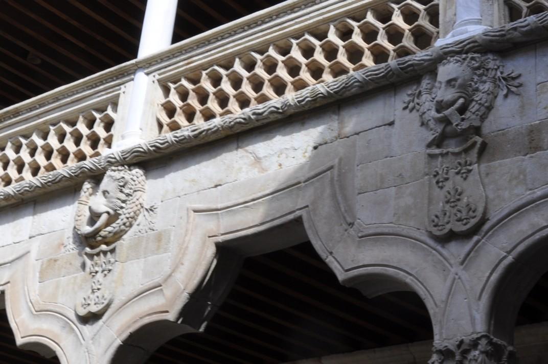 Lleons al pati interior de la Casa de les Petxines de Salamanca