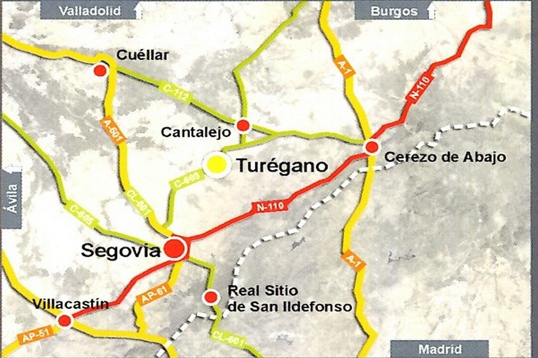 Mapa de situació de Turégano de Segòvia