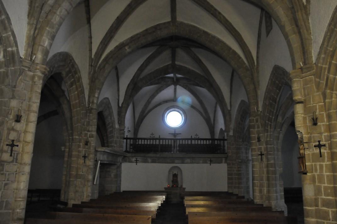 Nau central de l'església del Santuari de la Peña de Francia de Salamanca