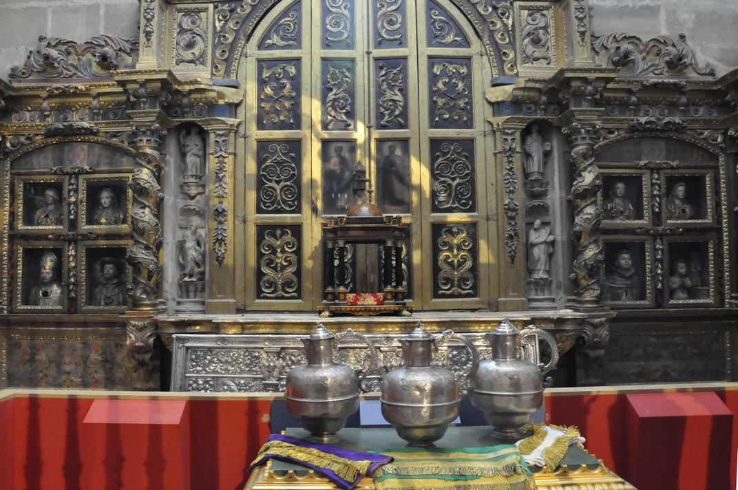 Ornaments litúrgics de la Sagristia de la Catedral de Sigüenza de Castella - La Manxa