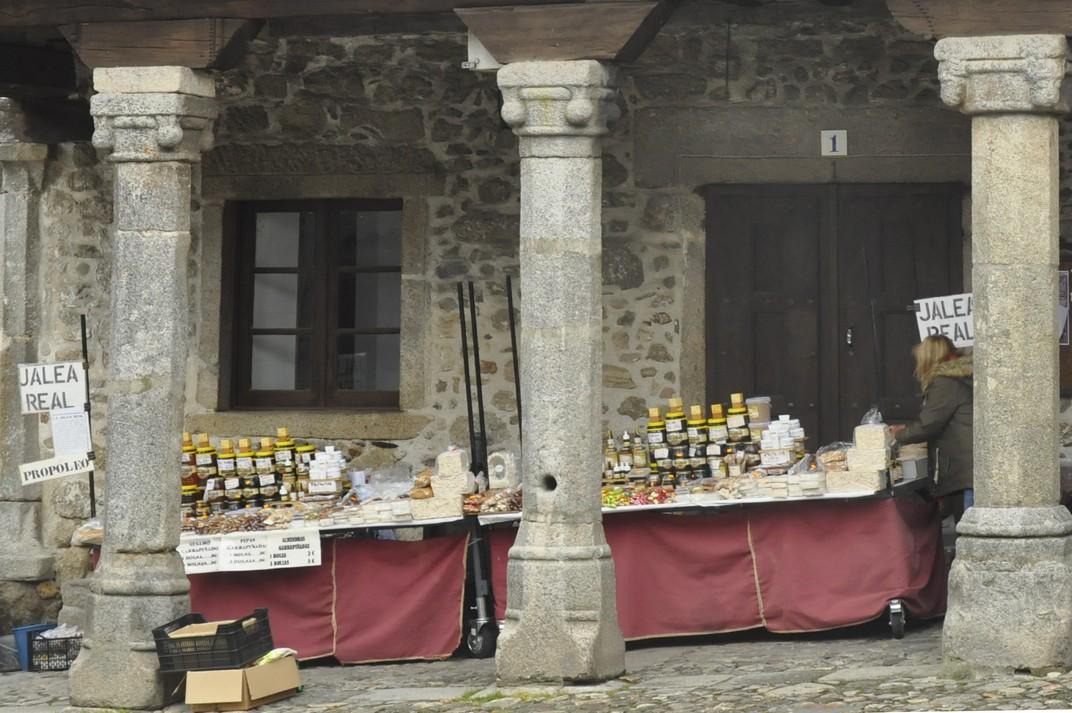 Parada de productes de proximitat de La Alberca de Salamanca
