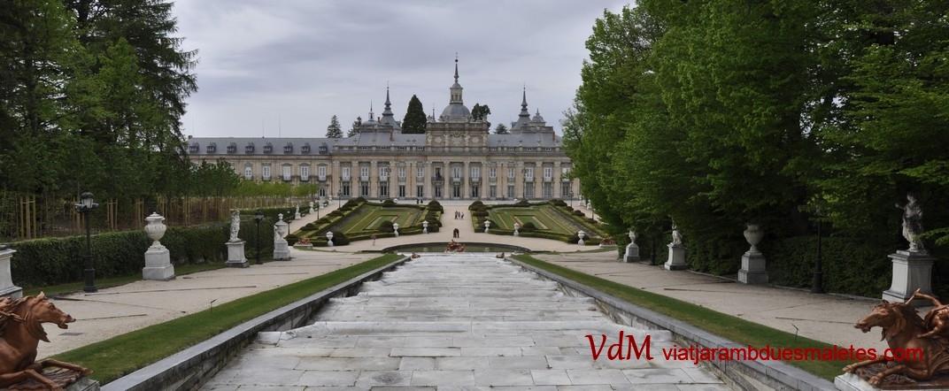 Parterre i Cos central del Palau de la Granja de Segòvia