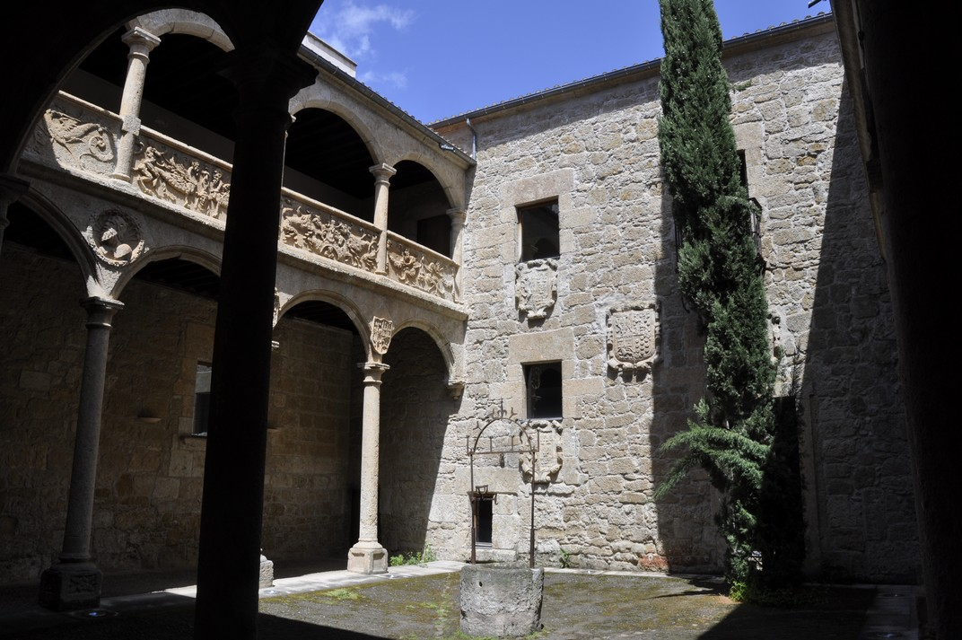 Pati interior de la Casa del Águila de Ciudad Rodrigo de Salamanca