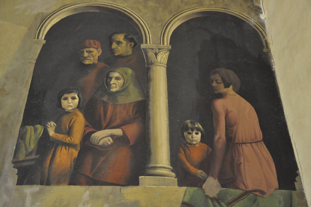 Personatges sense ulls de la Sala de la Galera de l'Alcàsser de Segòvia