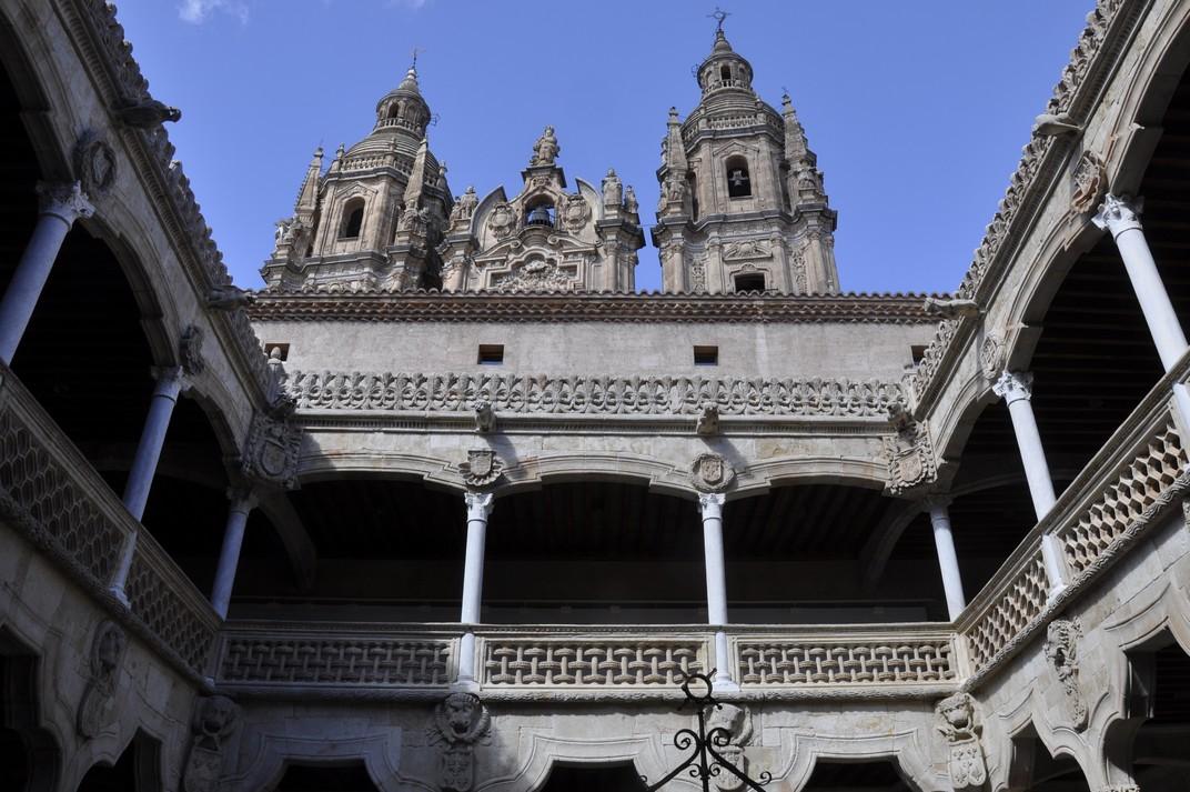 Pis superior del pati interior de la Casa de les Petxines de Salamanca