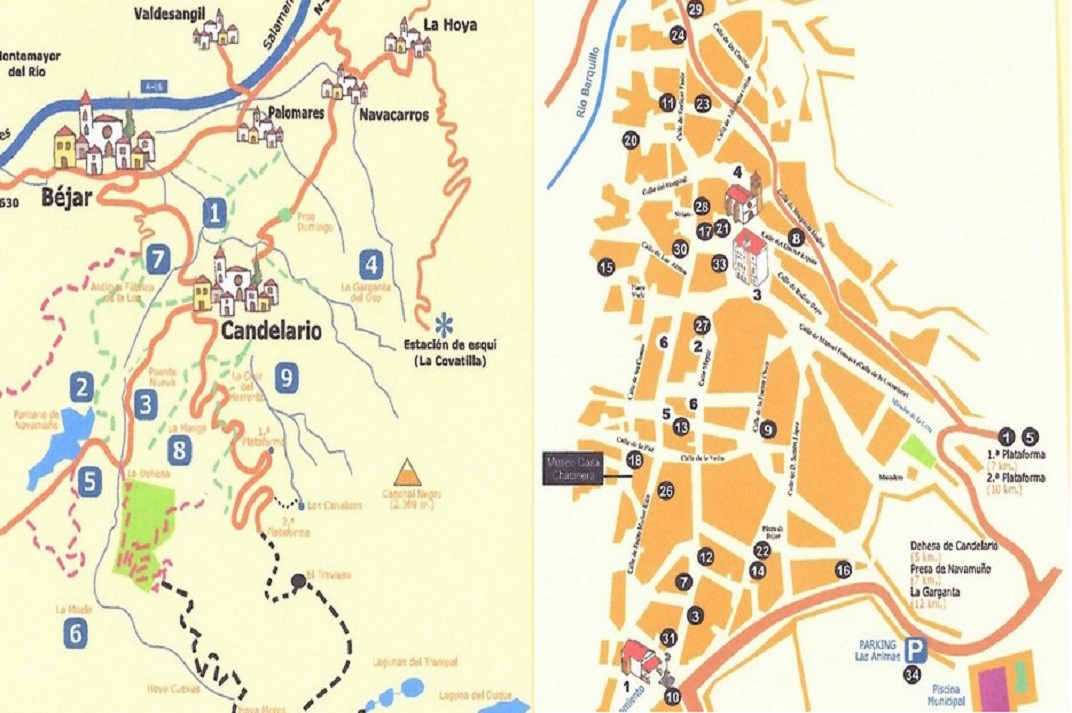 Plànol de Candelario