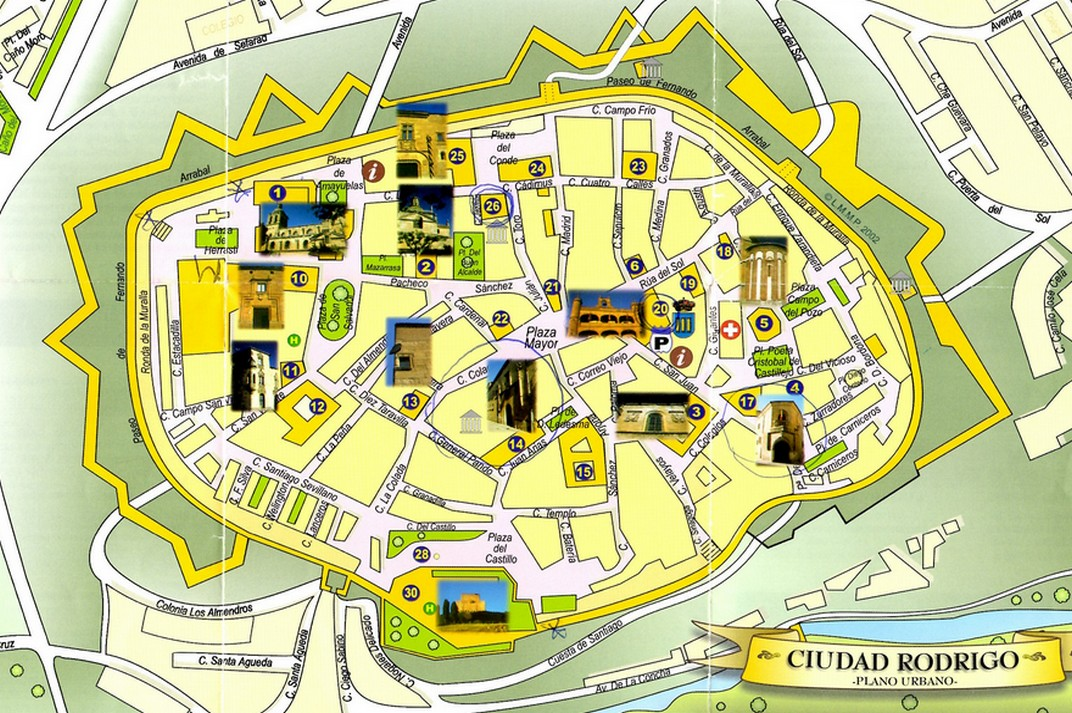 Plànol de Ciudad Rodrigo de Salamanca