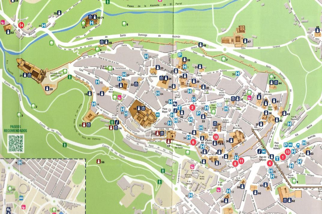 Plànol de la Ciutat Antiga de Segòvia