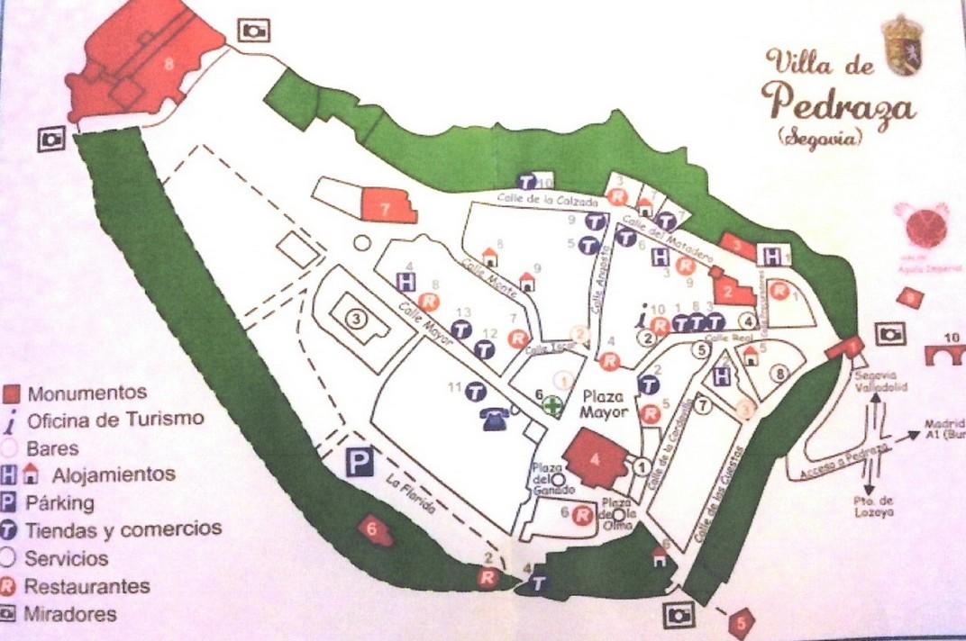 Plànol de la Vila de Pedraza de Segòvia
