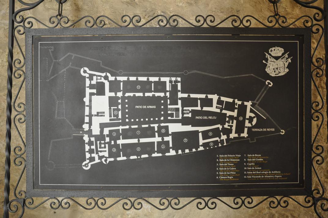 Plànol de l'Alcàsser de Segòvia