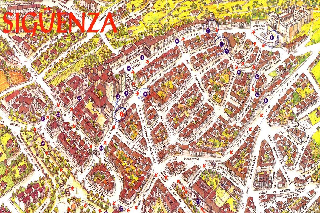 Plànol de Sigüenza de Castella-La Manxa