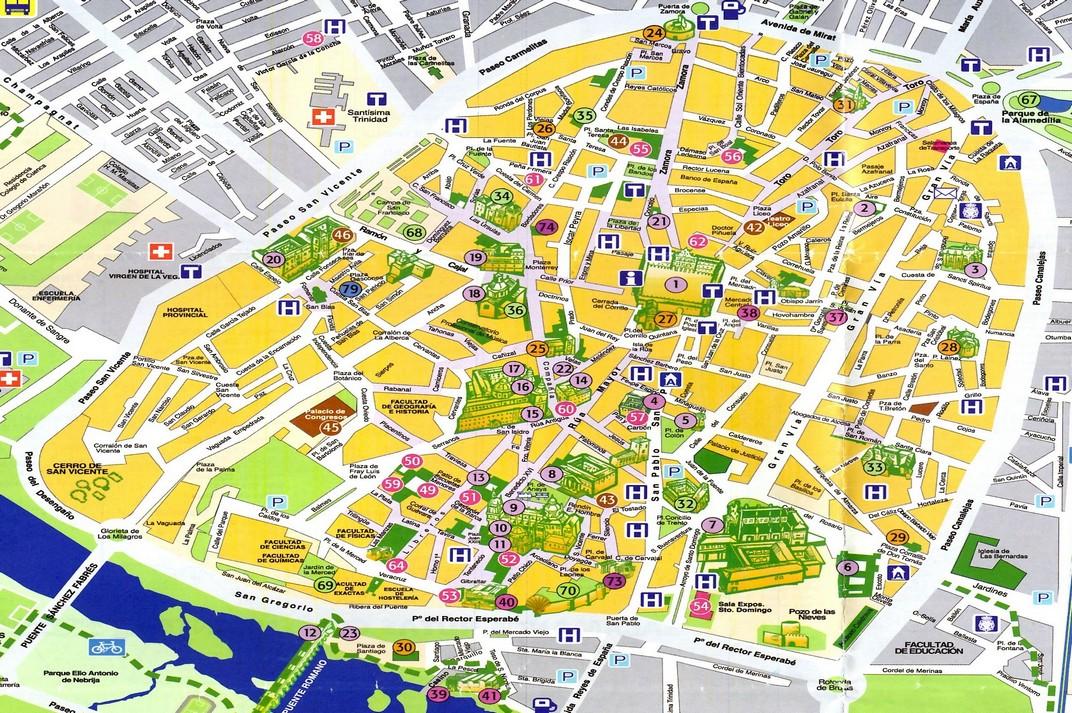 Plànol del Nucli Urbà de Salamanca