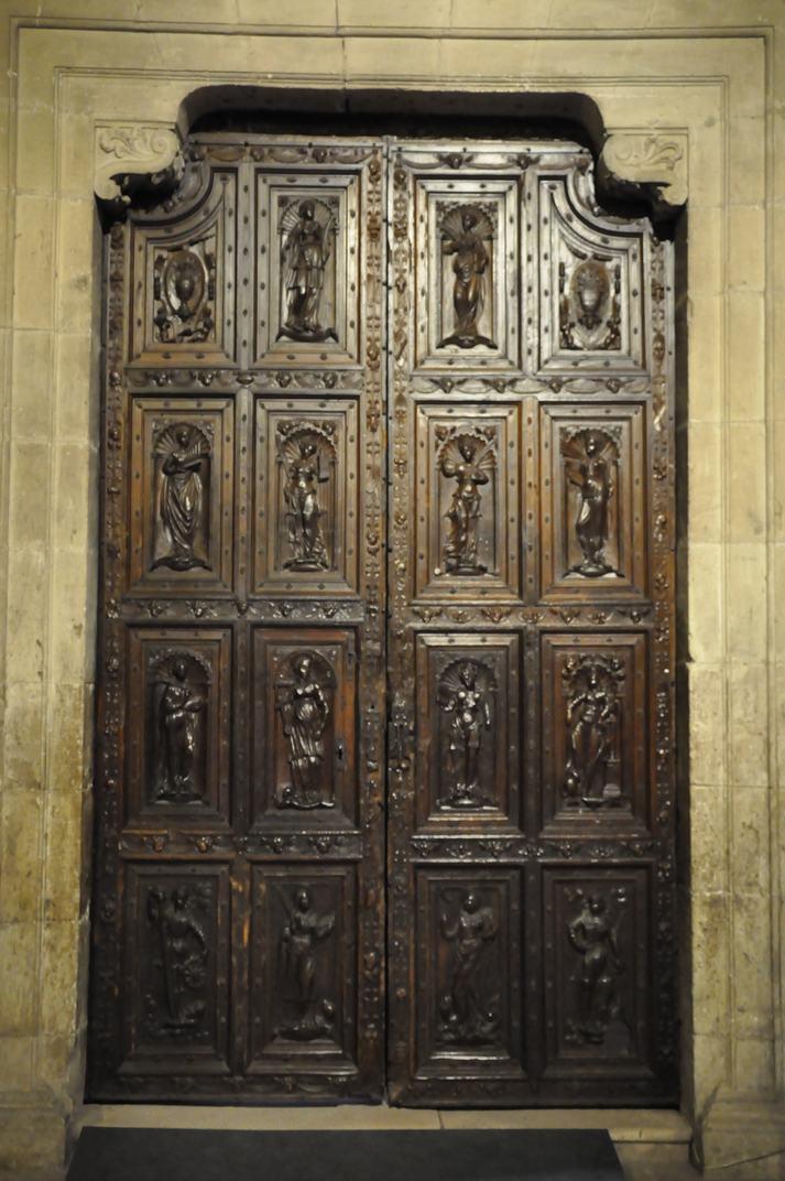 Porta de la Sagristia de la Catedral de Sigüenza de Castilla - La Manxa