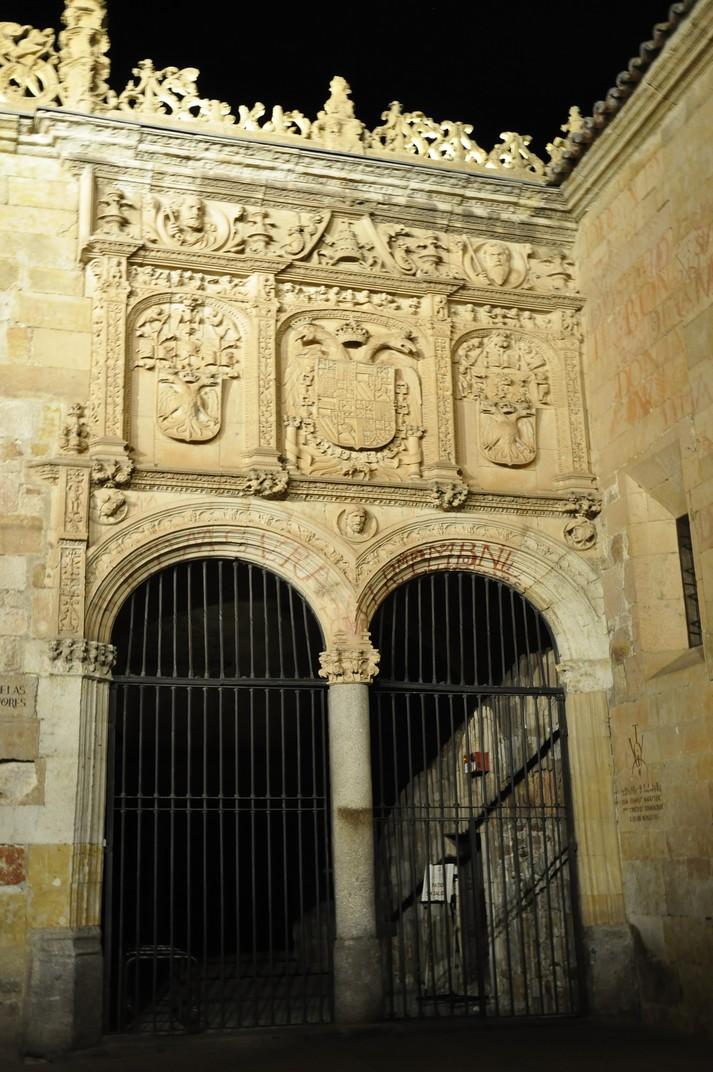 Portada de les Escoles Menors de la Universitat de Salamanca