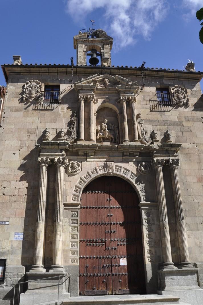 Portada renaixentista de l'església de Sant Martí de Tours de la Ciutat de Salamanca