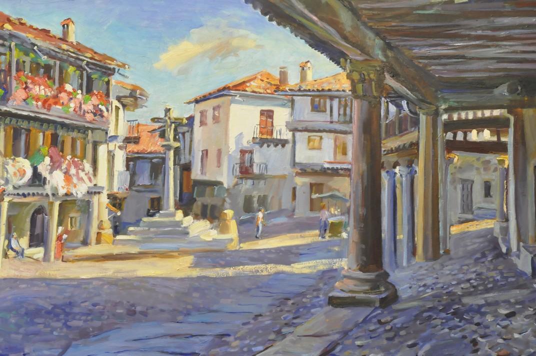 Quadre de la plaça Major de La Alberca de Salamanca