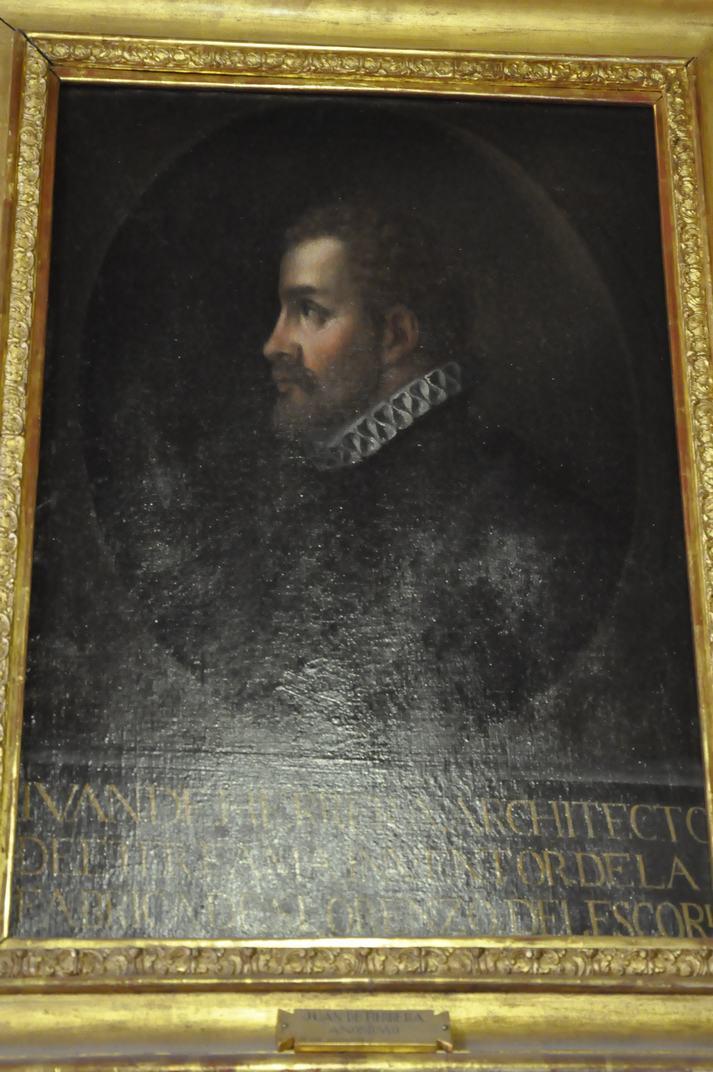 Quadre de l'accés de la Biblioteca del Monestir d'El Escorial de Madrid