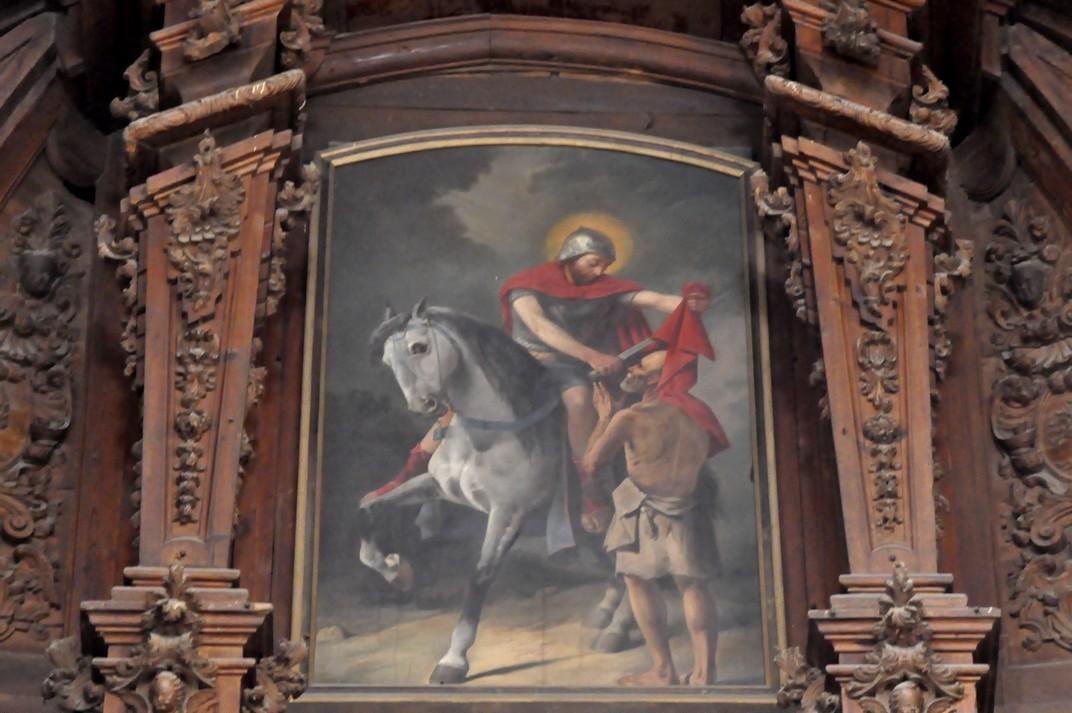 Quadre de Sant Martí a l'església de Sant Martí de Tours de Salamanca