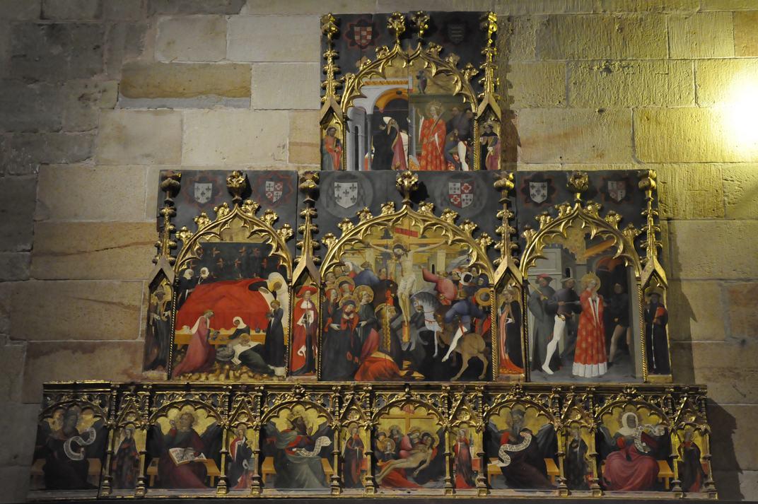 Retaule de Sant Joan i Santa Caterina de la Catedral de Sigüenza de Castella - La Manxa