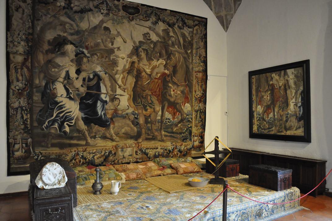 Sala del Estrado de las Damas del Castell de Manzanares El Real de Madrid
