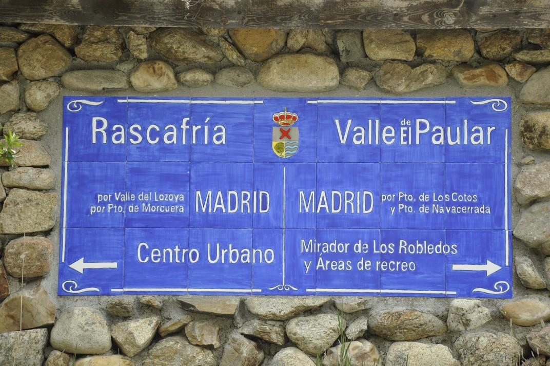 Senyalització de Madrid - Monestir de Santa Maria d'El Paular