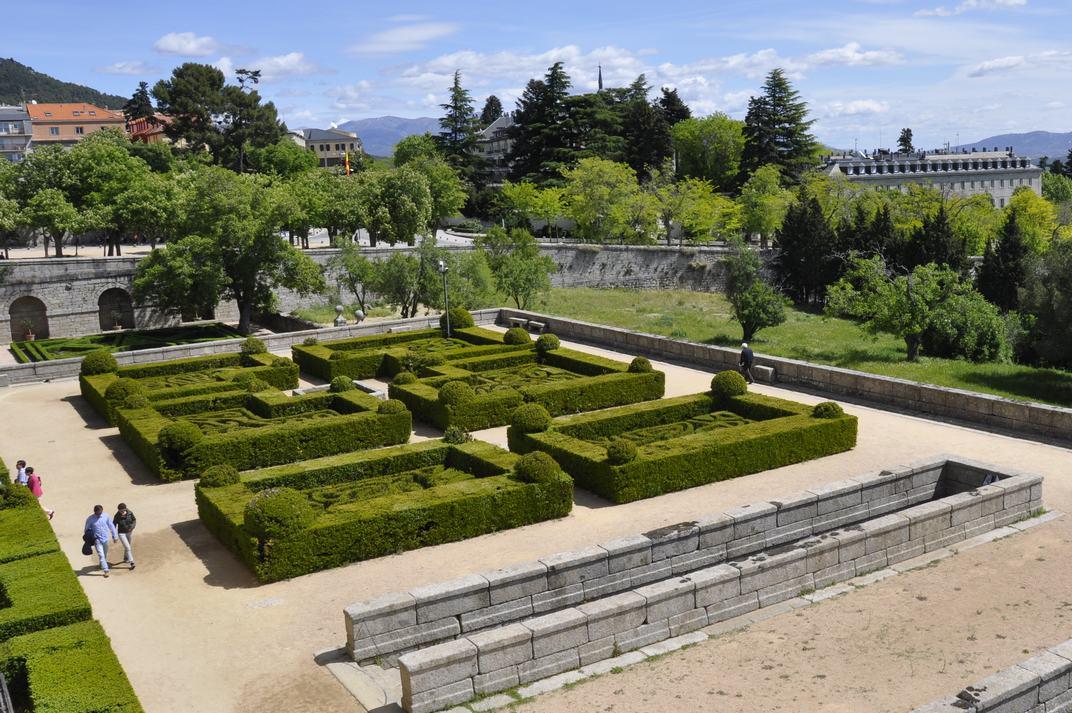Tanques de boix dels Jardins del Monestir d'El Escorial de Madrid