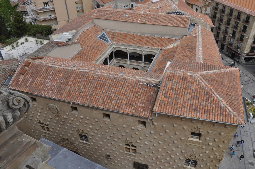 Vista aèria de la Casa de les Petxines de la Ciutat de Salamanca