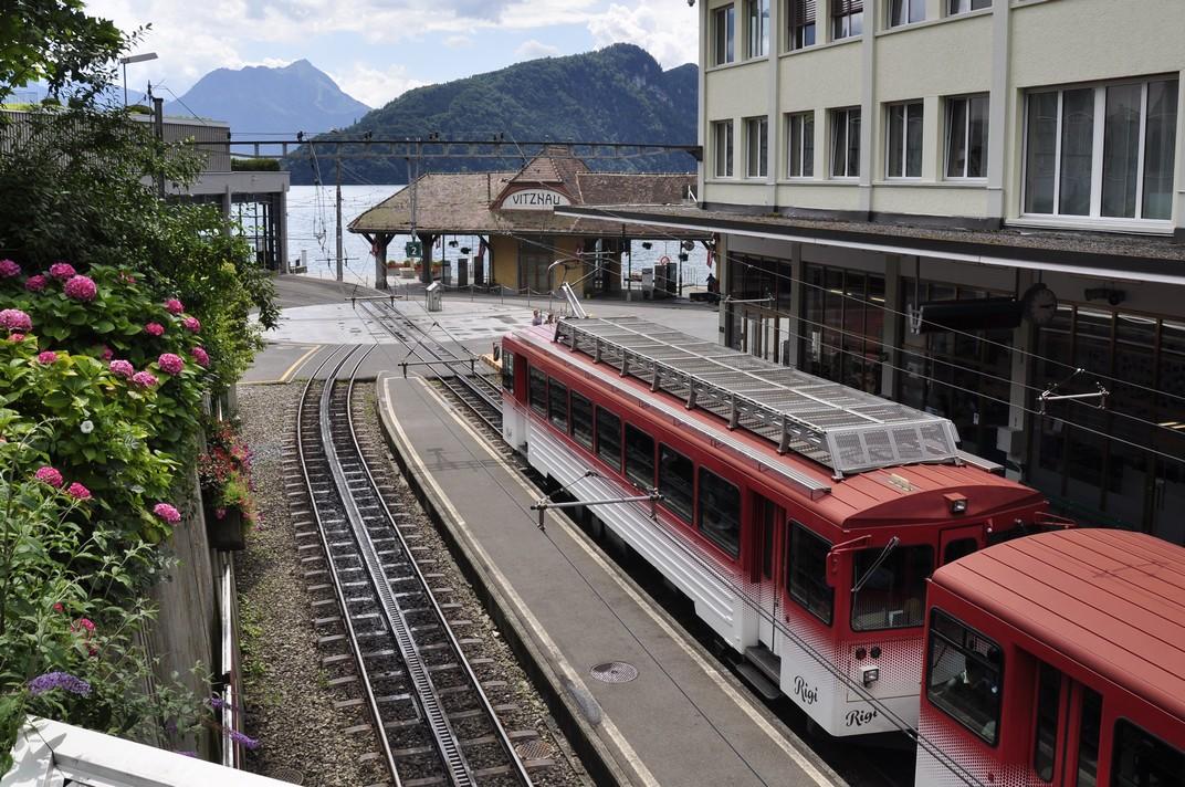 Estació de Vitznau del tren cremallera del Rigi